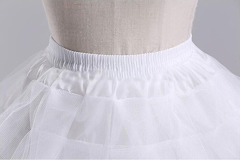 Dannifore Girl's White Short Crinoline Petticoats Slips Underskirt for Wedding Party