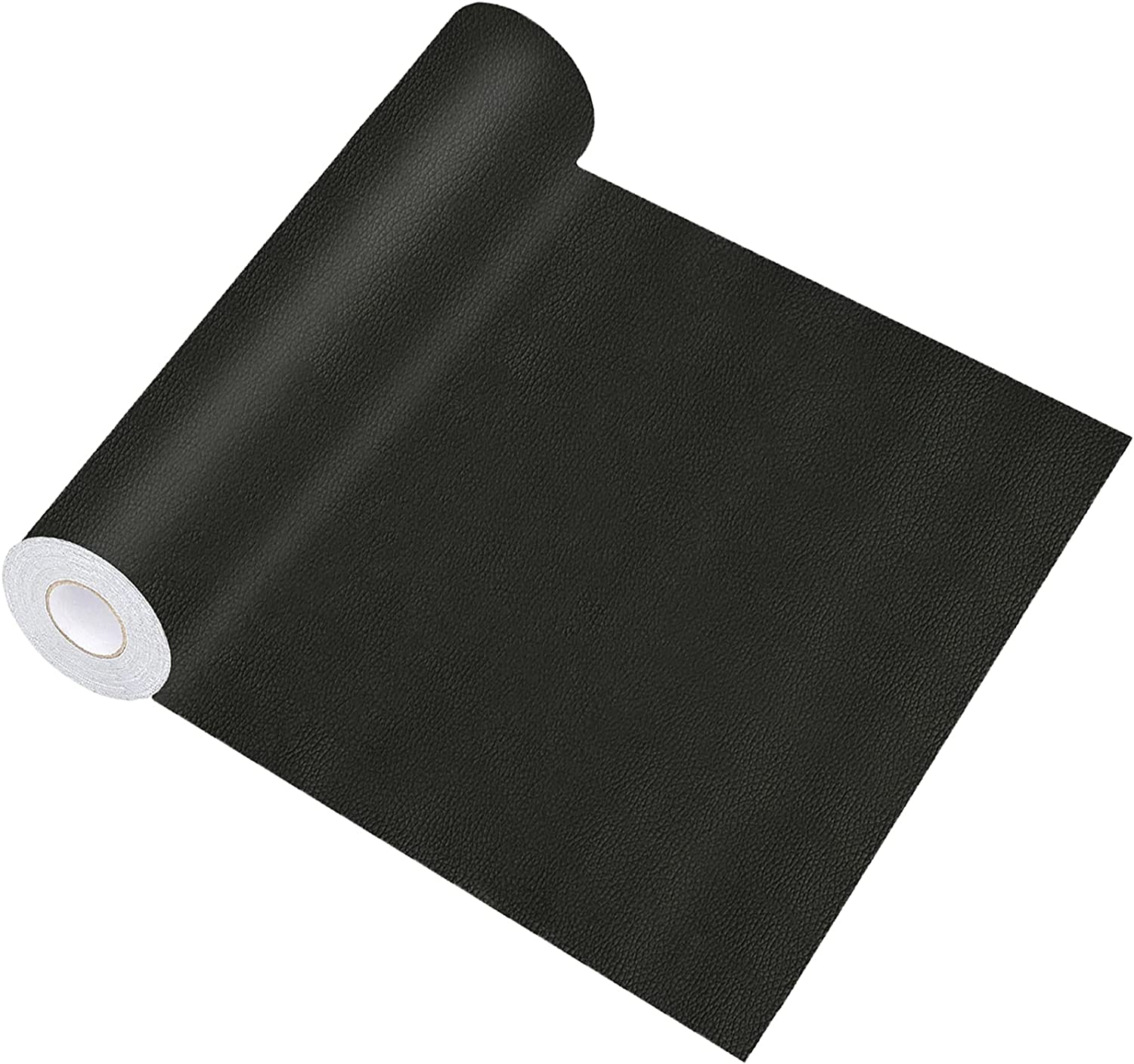 Leather Repair Patch for Couches, 17X157 inch Self-Adhesive reupholster Tape Patches kit for Furniture Sofa Vinyl Car Seats Couch Chairs Jackets First Aid Patch Fix Tear Kit (Black, 17X157 inch)