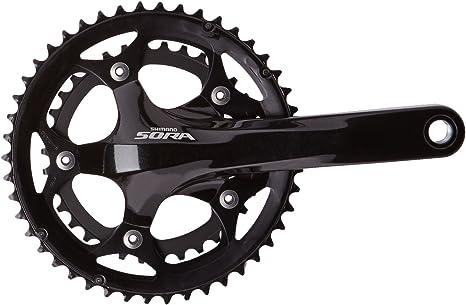 SHIMANO Sora 3550 46/34 175mm - Biela para Bicicletas, Color Negro, Talla 46/34 Teeth: Amazon.es: Deportes y aire libre
