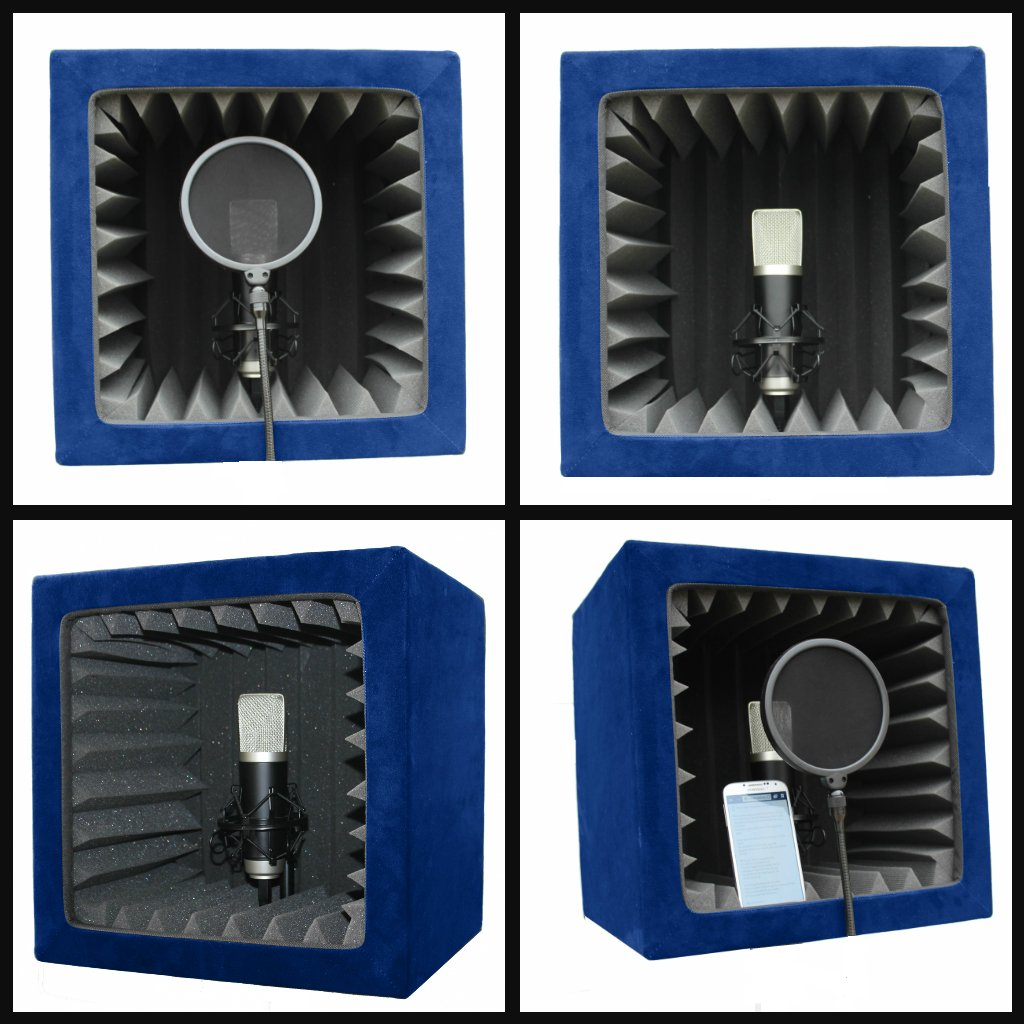 SnapRecorder - Silver Edition in Blue - Portable Recording Booth