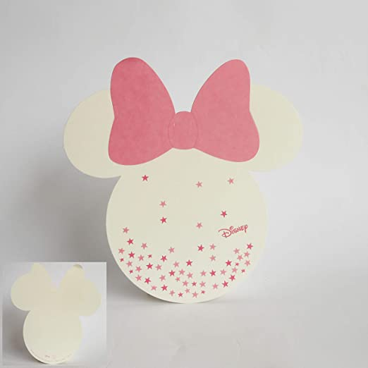 Scotton Tarjeta Invitación O Tablò Forma Minnie Disney Rosa