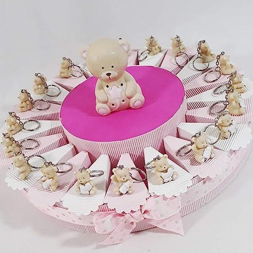 Tarta BOMBONIERA nacimiento bautizo 1 ° Cumpleaños Niña ...