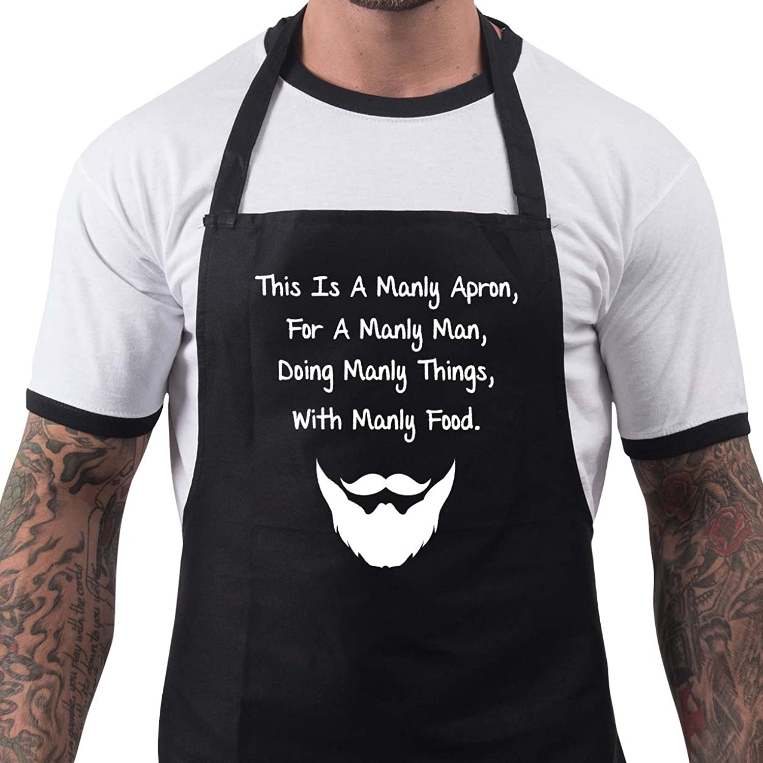 funny bbq apron novelty aprons cooking gifts for men manly