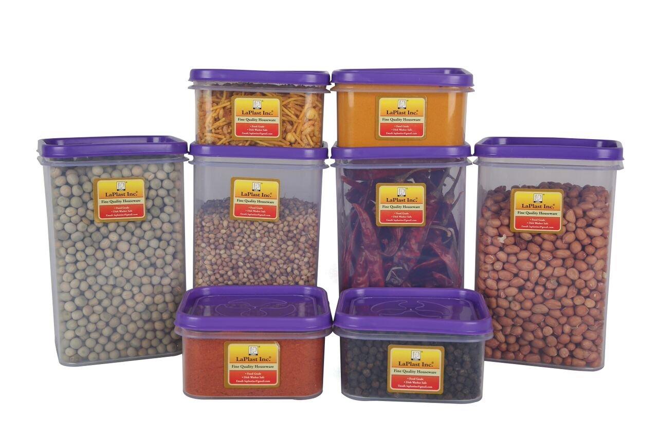 Laplast – 100010 Plastic Storage Container, 8-Pieces