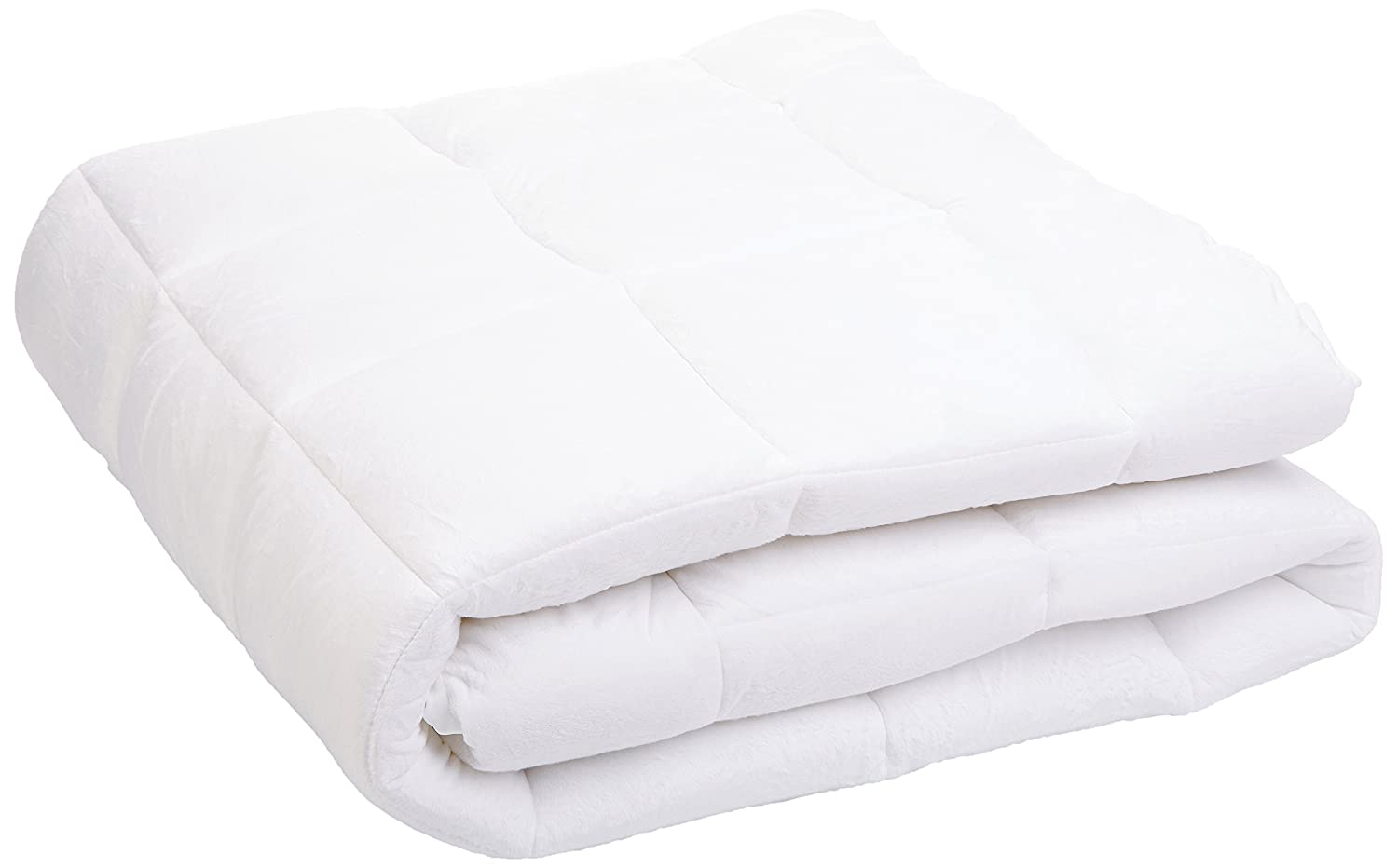 Amazon.com: pinzon overfilled microplush mattress pad   queen ...