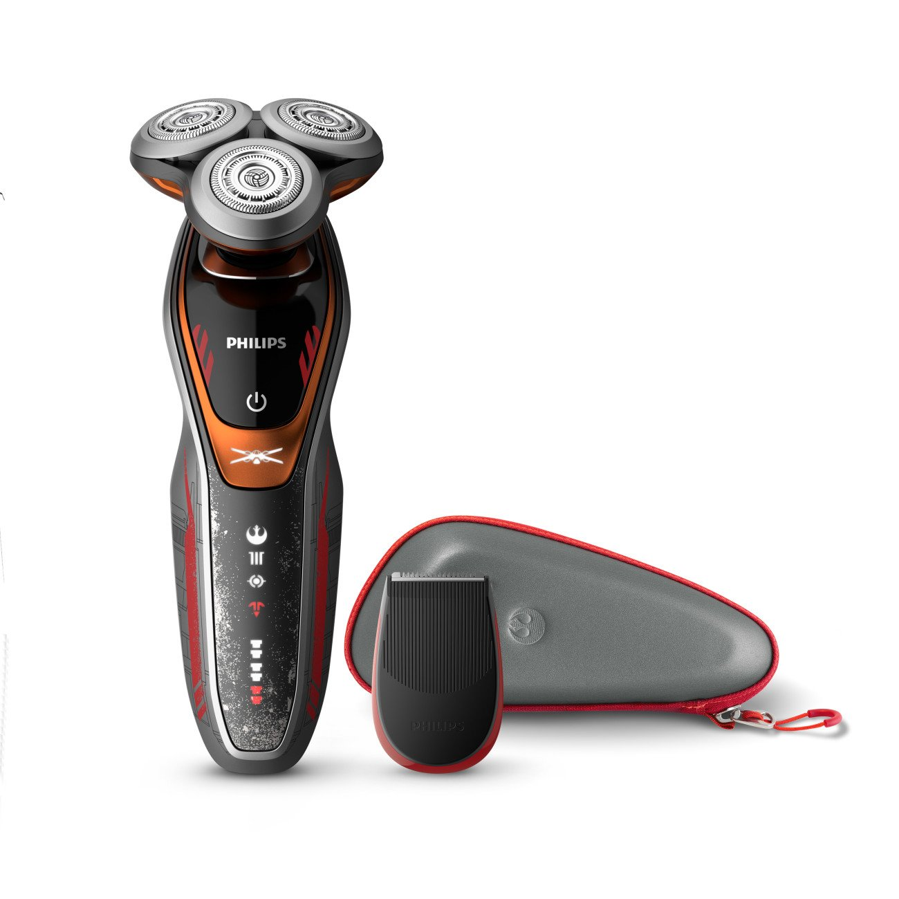 Philips Norelco Special Edition Star Wars Poe Wet & Dry Electric Shaver, SW6700/91, with Turbo+ mode and Precision Trimmer by Philips Norelco
