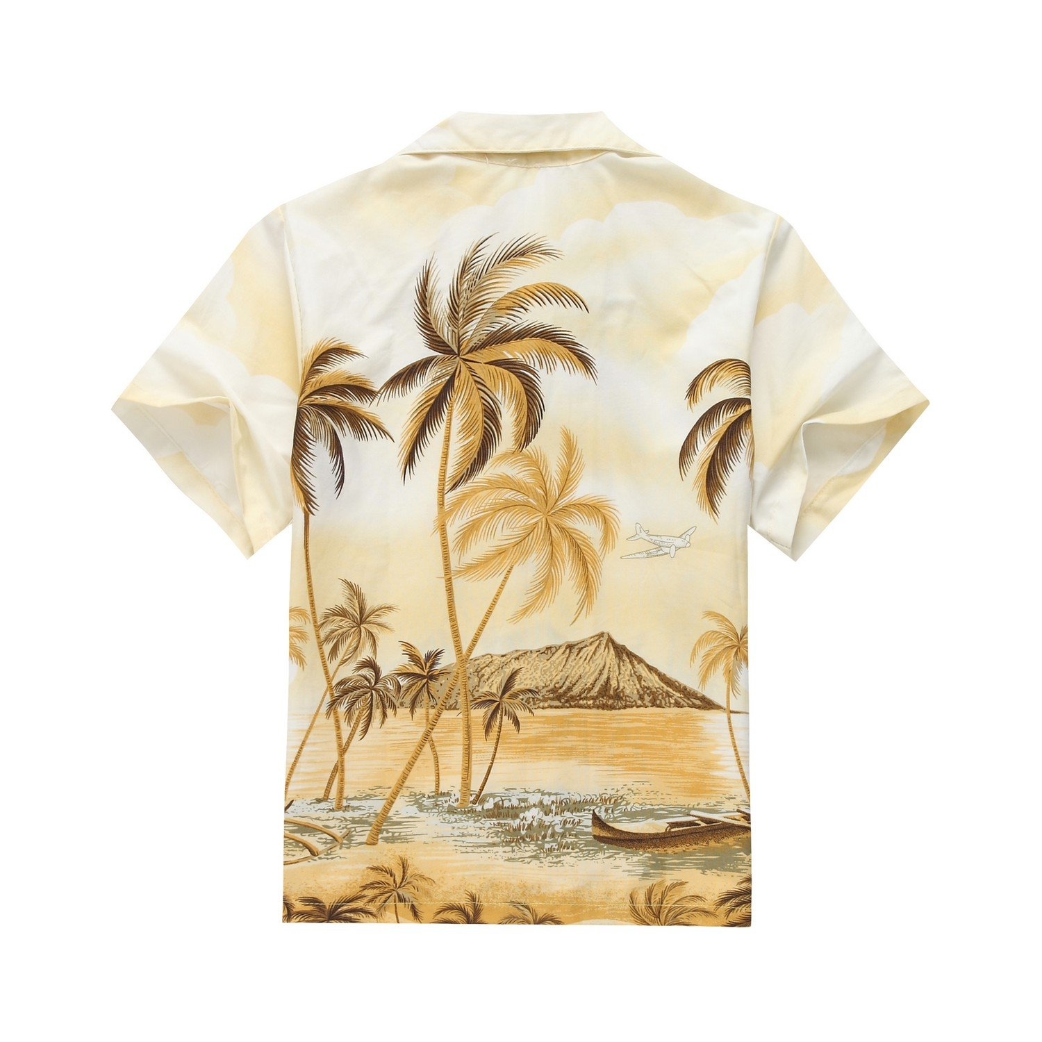 Made in Hawaii Luau Aloha Shirt und Kurz Junge Cabana Set Palm Edge ...