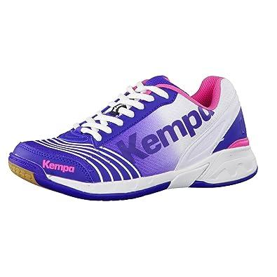 9d0666e07380d Kempa ATTACK THREE WOMEN, Chaussures de handball femmes Blanc electric  blau/weiß/rosa