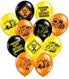 """Construction Party Supplies - 36 Construction Themed Balloons - 12"""" Construction Zone Party Balloons - Perfect for Builder Themed Parties"""