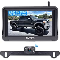 AMTIFO A6 HD 1080P Digital Wireless Backup Camera Kit with Stable Signal,5 Inch Split/Full Screen Rear View System for…