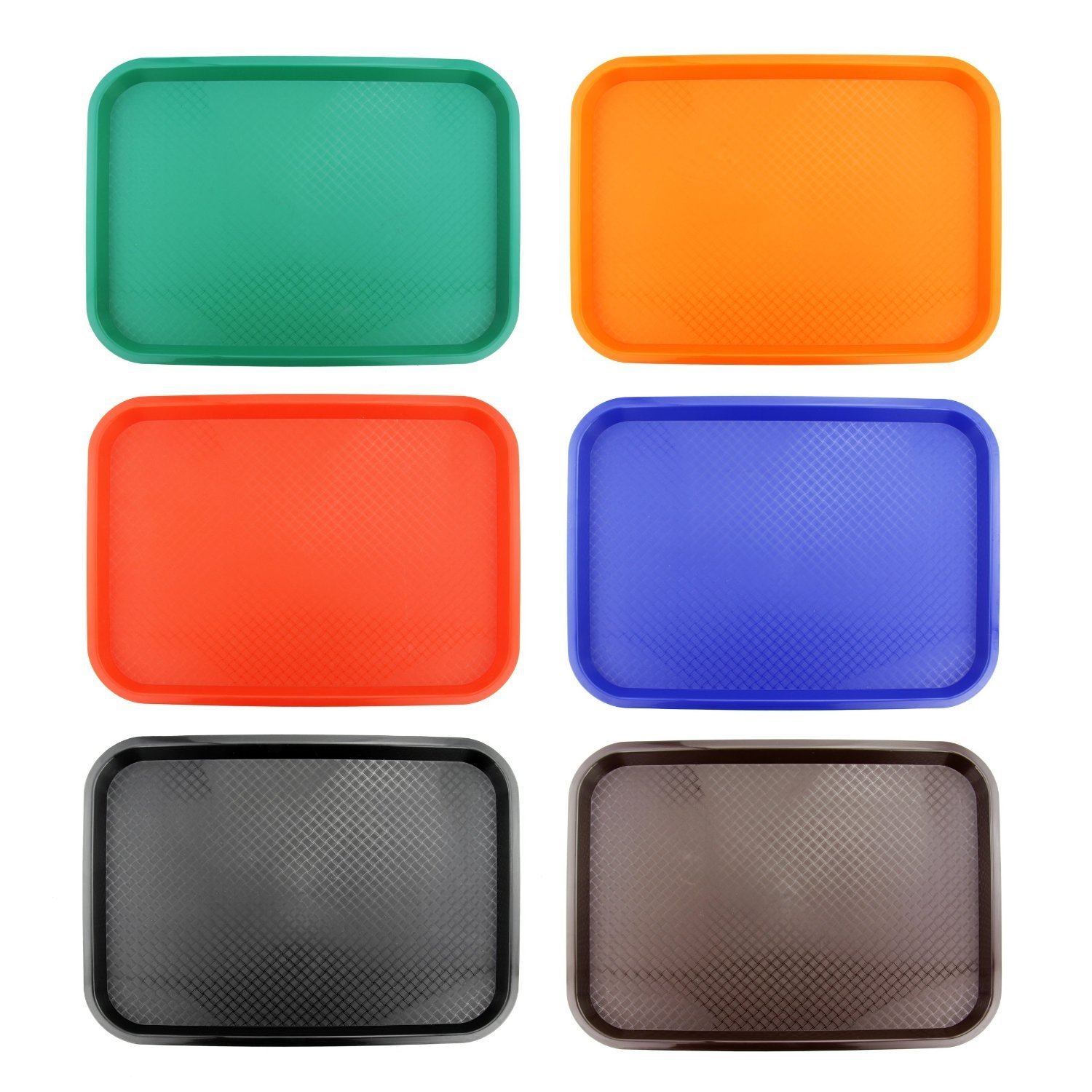 New Star 28010 Fast Food Tray, 12 by 16-Inch, Assorted 6 Colors in Each by New Star Foodservice