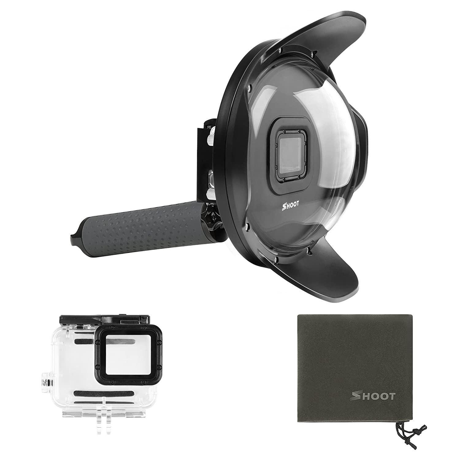 SHOOT 6'' Underwater Dome Port for GoPro Hero 6/Hero 5/Hero(2018) Black Camera Diving Lens Hood Housing Photography with Waterproof Case Accessories