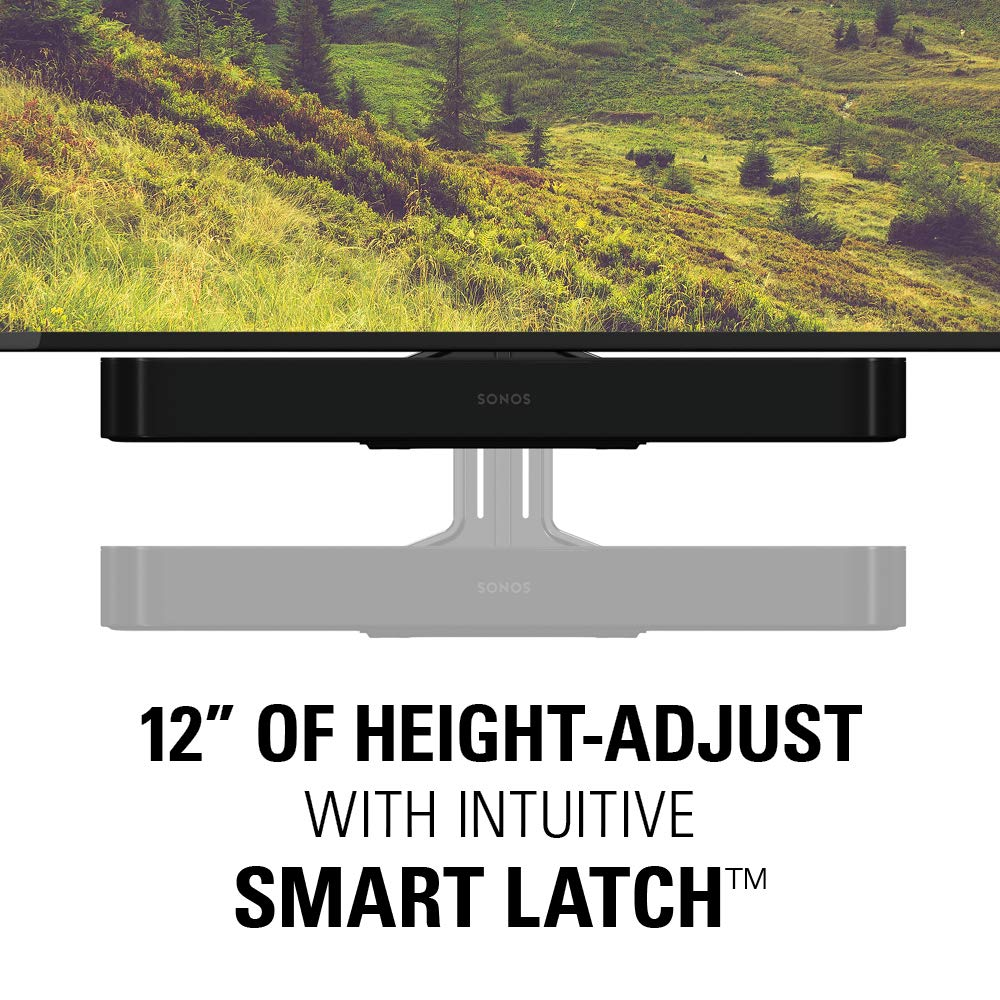 Sanus Soundbar Mount Compatible with Sonos Beam - Height Adjustable Up to 12'' & Designed to Work with Any TV - Custom Fit to The Beam for Optimal Audio Performance by Sanus (Image #3)