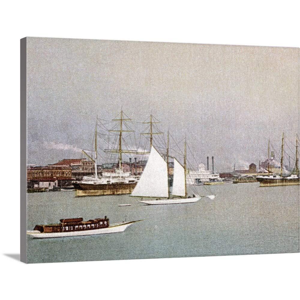 The Henry Fordプレミアムシックラップキャンバス壁アート印刷題名の水フロントモバイルAlabamaヴィンテージ写真 40