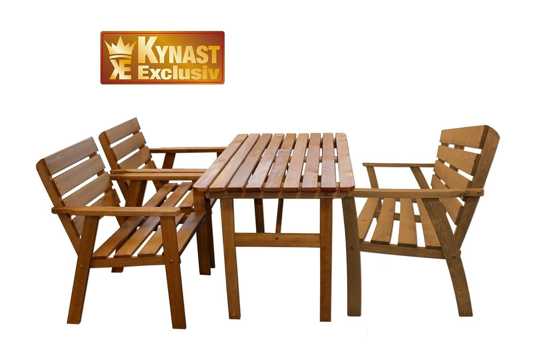 Sitzgruppe Holz 4-tlg KYNAST Gartenmöbel Stuhl Tisch günstig