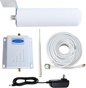 Phonelex Cell Phone Signal Booster T-Mobile AWS MetroPCS AT&T 3G 4G LTE Band4 1700Mhz Cell Phone Booster Amplifier Repeater with Indoor Ceilling/Outdoor Omni-Directional Antenna for Home Office