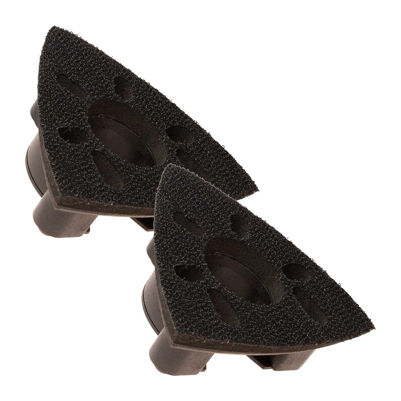 2 Krop Multi Lames Outil Quick Release 78 mm triangulaire Patin de ponç age pour Dewalt Black & Decker Tacwise FatMax Worx Sonicrafter Hyperlock. Krop Tools