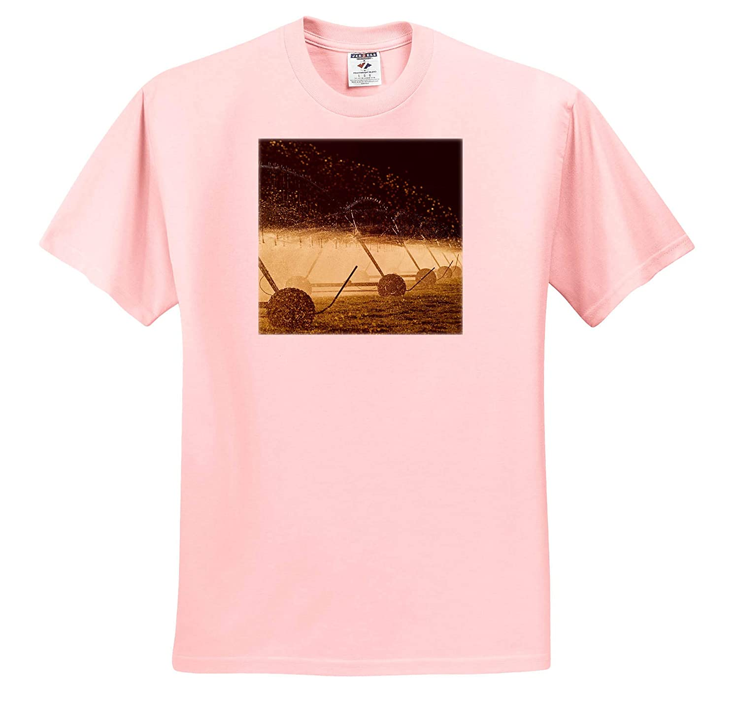 - Adult T-Shirt XL Backlit 3dRose Danita Delimont Irrigation Equipment Spraying Water Agriculture ts/_312944