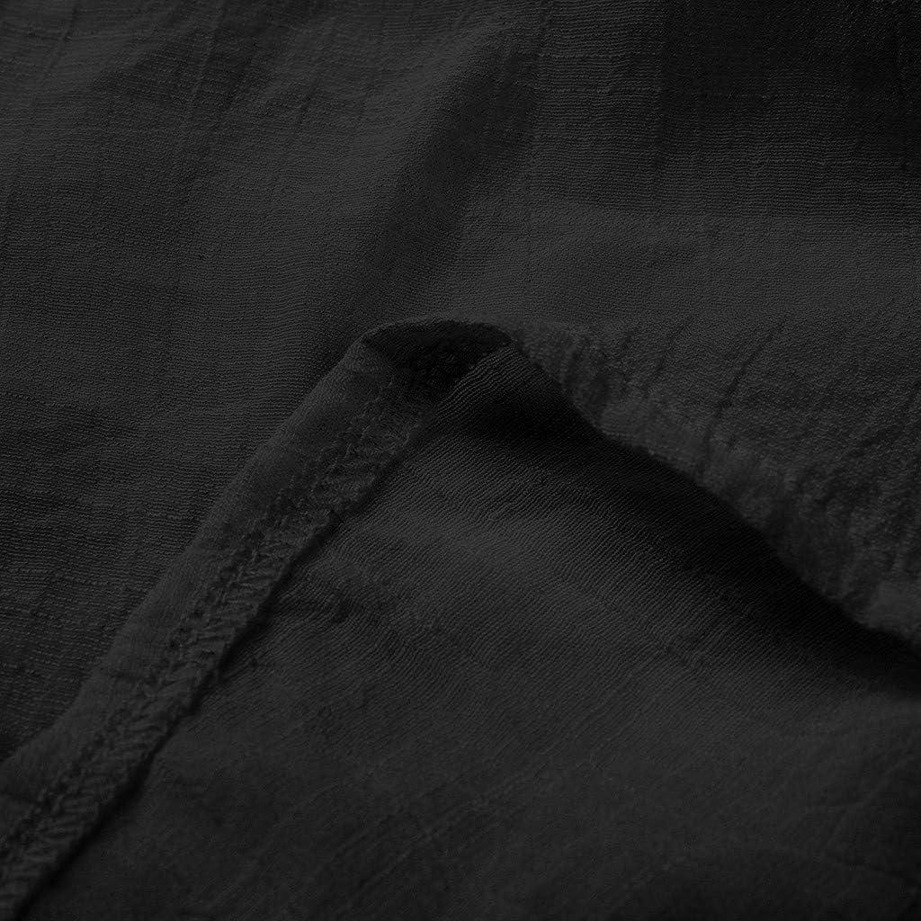 Drfoytg Womens Casual Loose Solid Maxi Dress Irregular Flowy Hem Maxi Dresses Vintage Long Sleeve Cotton Dress Black