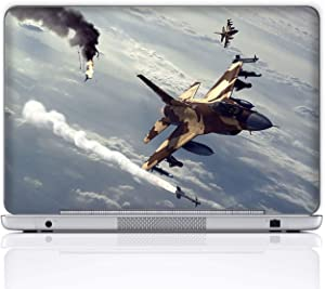 Meffort Inc 17 17.3 Inch Laptop Notebook Skin Sticker Cover Art Decal (Included 2 Wrist pad) - Fighter Jet Missile