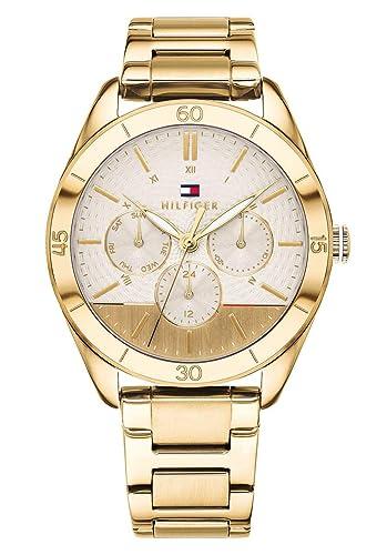 Tommy Hilfiger Reloj Multiesfera para Mujer de Cuarzo con Correa en Acero Inoxidable 1781883: Amazon.es: Relojes