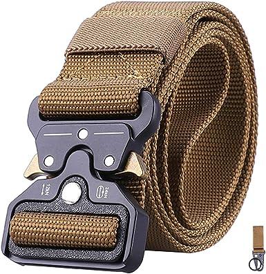 Men/'s Military Tactical Belt Metal Buckle Women Nylon Belts Waistband Outdoor