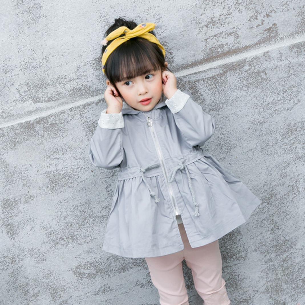 LNGRY Kids Baby Girls Toddler Winter Warm Trench Coat Windbreaker Jacket Outwear