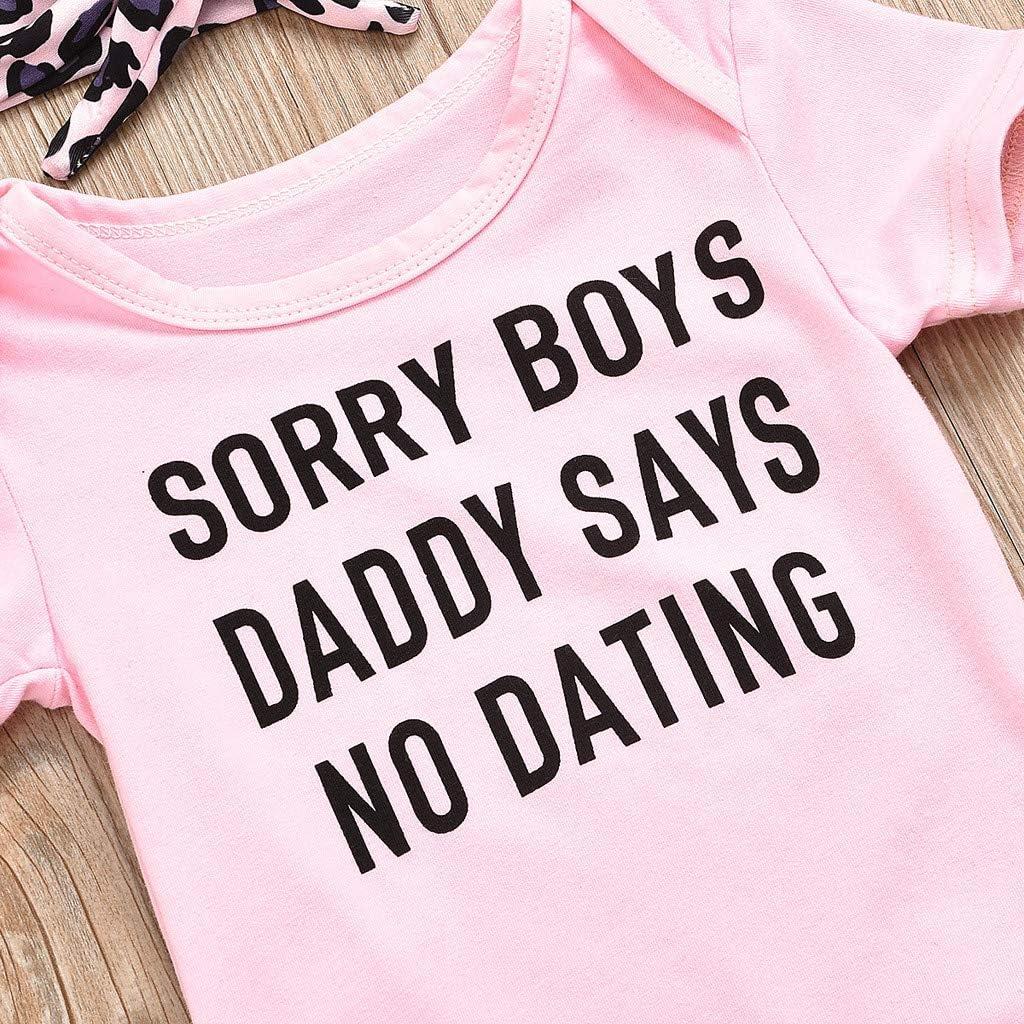 Obestseller Kleidung Set Ostern Neugeborenes Baby 3-teilig Daddy Little Princess Strampler Kleidung Leopardenmuster Blumenhose Set mit Stirnband