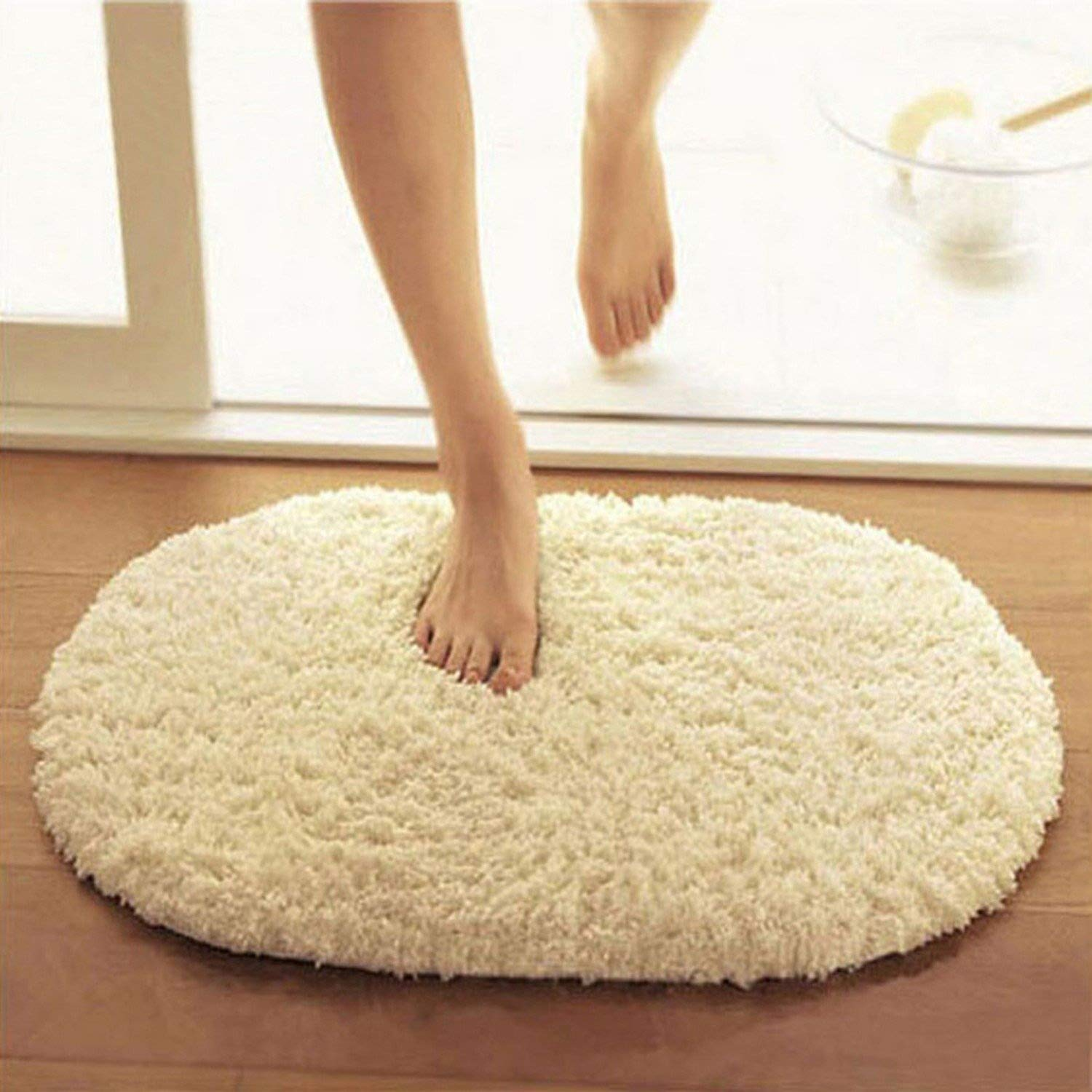 Bathroom Carpets Absorbent Soft Memory Foam Doormat Floor Rugs Oval Non-Slip Bath Mats 40 x 60cm CCNN Company