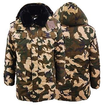 LEWWB Chaqueta Militar Caliente para Hombre a Prueba de Viento Jacket Engrosamiento cálido más Terciopelo de
