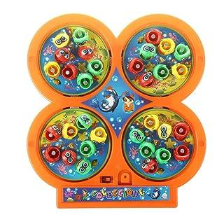 TOOGOO(R) Colore casuale andare pesca giocattolo educativo giocattolo del giocattolo del giocattolo del giocattolo del magnete magnetico rotante elettrico