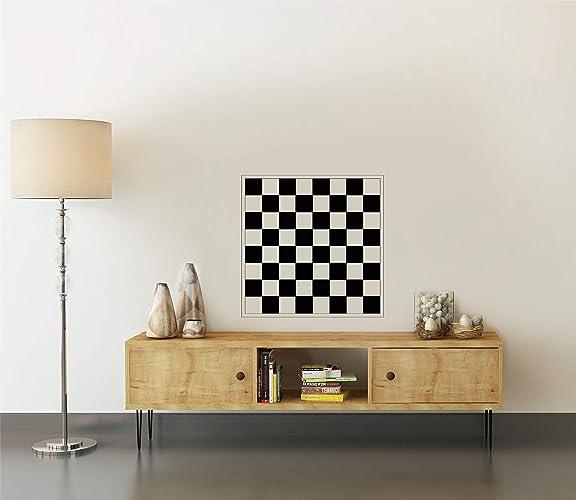 amazon com checkerboard vinyl decal table wall art decor vinyl
