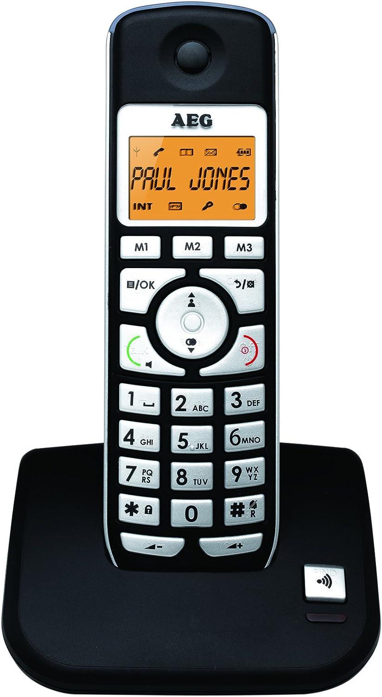 AEG 8073780025 - Teléfono inalámbrico, manos libres, agenda de 20 posiciones, pantalla de 1.7 iluminada, tonos polifónicos: Amazon.es: Electrónica
