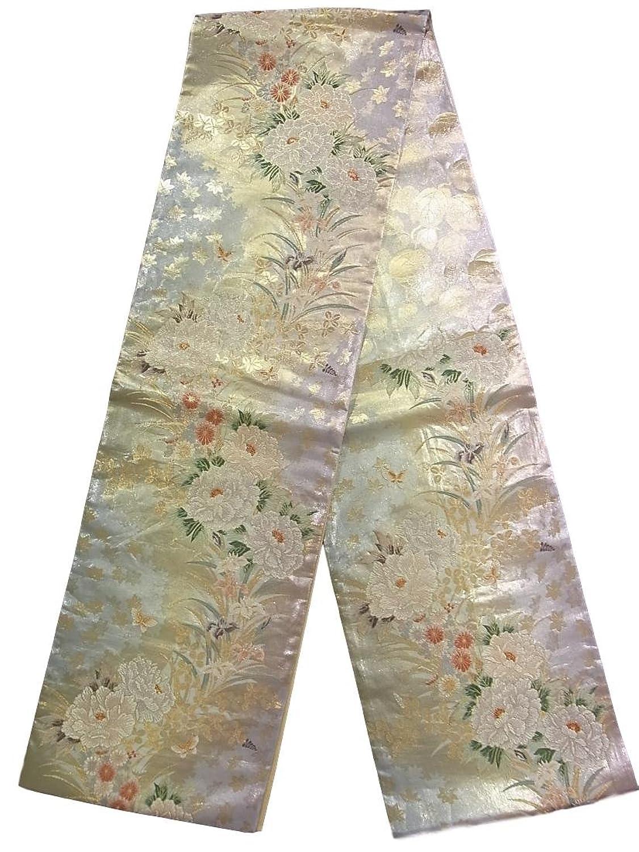 リサイクル 袋帯 四季花文様 正絹 B07DPJB75S  -