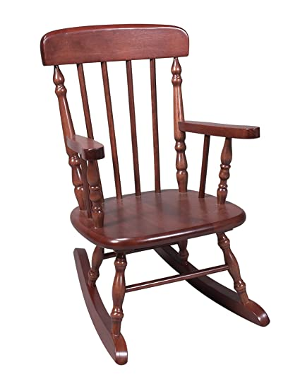 Terrific Gift Mark Deluxe Childrens Spindle Rocking Chair Espresso Pabps2019 Chair Design Images Pabps2019Com