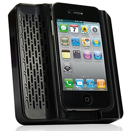 Daffodil MS120B Acoustic Amplifier for iPhone 4/4S - Retro Style Portable Speaker for Apple