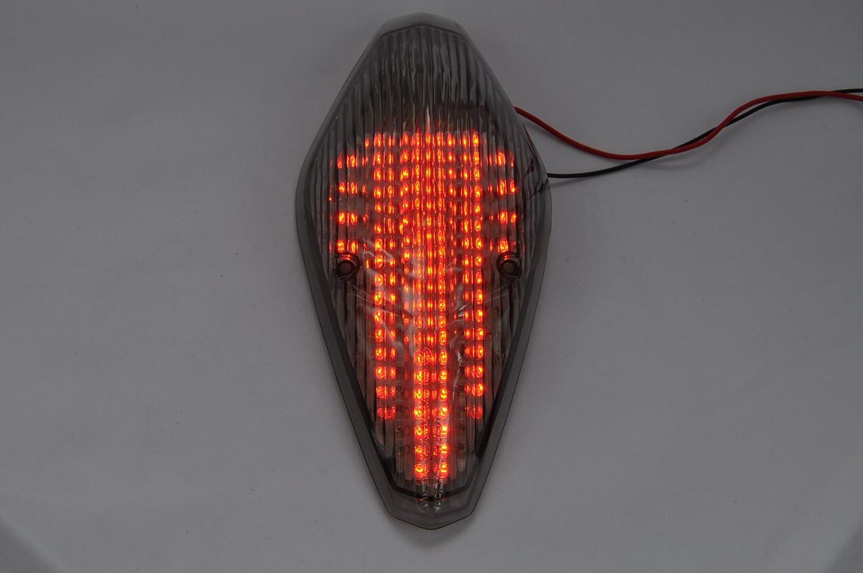 topzone Lighting Clear Lens LED moto feu arriè re feu arriè re avec Indicateurs clignotant Lampe Inté gré e pour Honda VTX 1300/1800 Ré tro/1800T dingdong