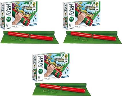 Outletdelocio. Pack 3 Puzzle Roll Clementoni 2000 Piezas. Tapete Universal para Transportar/Guardar Puzzles.: Amazon.es: Juguetes y juegos