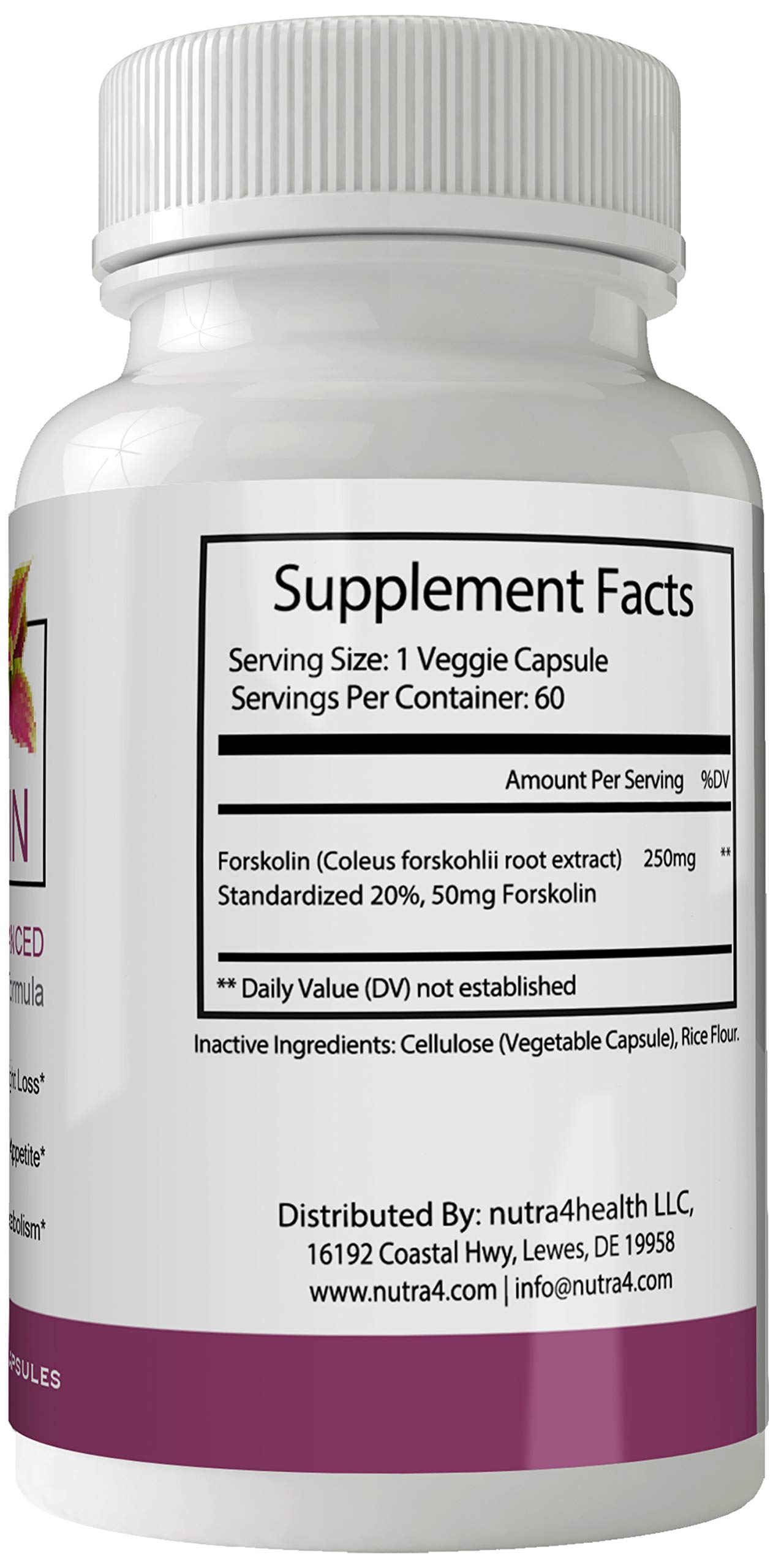 Italic Forskolin Supplement for Weight Loss Capsules with Natural High Quality Pure Forskolin Extract Diet Pills by nutra4health LLC (Image #2)