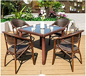 DYYD Garden Furniture Sets Outdoor Furniture Ratan Patio Furniture Set Patio Conservatory Indoor Outdoor for Outdoor Garden Poolside