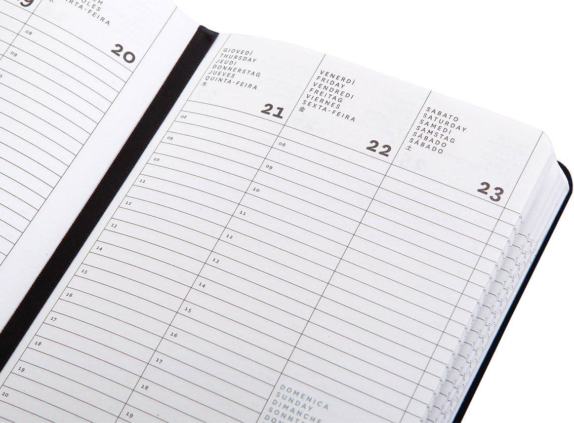 formato small Agenda settimanale 18 mesi cm 11 X 16,5 colore nero