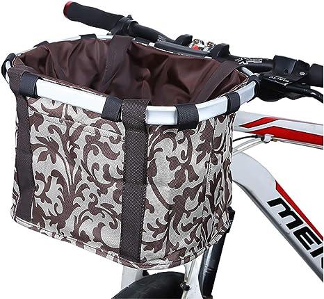 COEWSKE Cesta de Bicicleta Plegable Extraíble Delantero Bicicleta ...