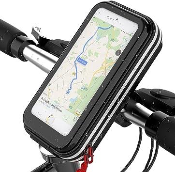 Soporte de bicicleta para teléfono móvil Lovicool, antigolpes, para evitar caídas, abrazadera con rotación de 360 mm, bolsa de teléfono móvil impermeable por debajo de 16 cm., Universal Phone Holder: Amazon.es: Deportes