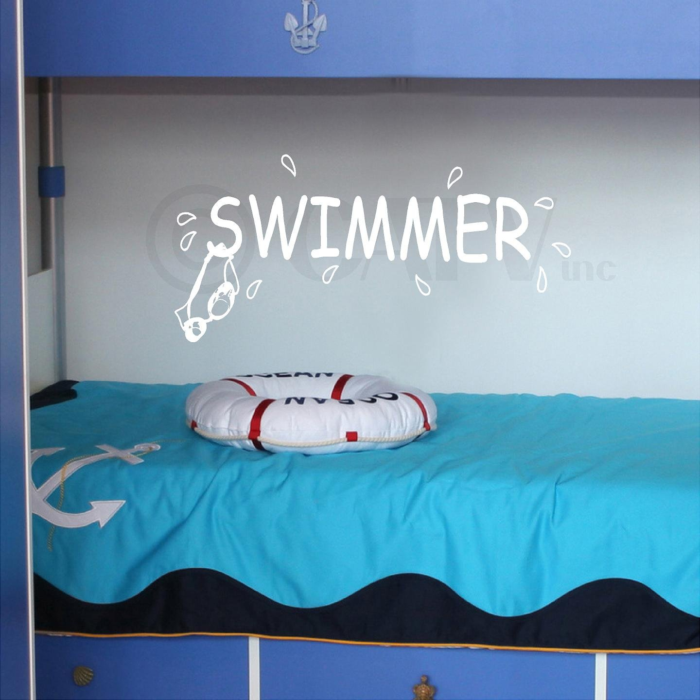 Swimmer Decal wall saying vinyl lettering art decal quote sticker home decal Wall Sayings Vinyl Lettering 6074243