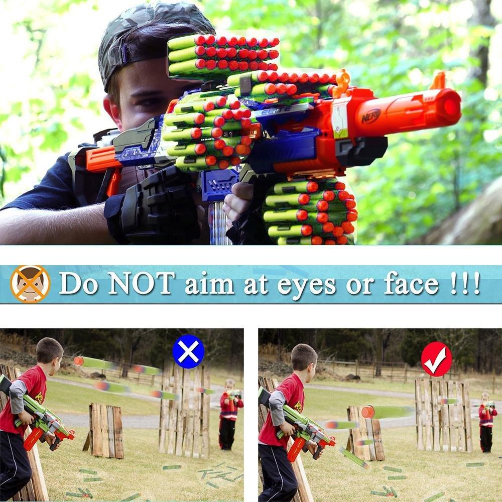 TM Fl/échettes Recharge HC-eleven Rouge Balle de Nerf N-Strike Elite Blasters Lot de 120 Pcs Balles Universelles de Recharge pour Pistolets Nerf N-Strike