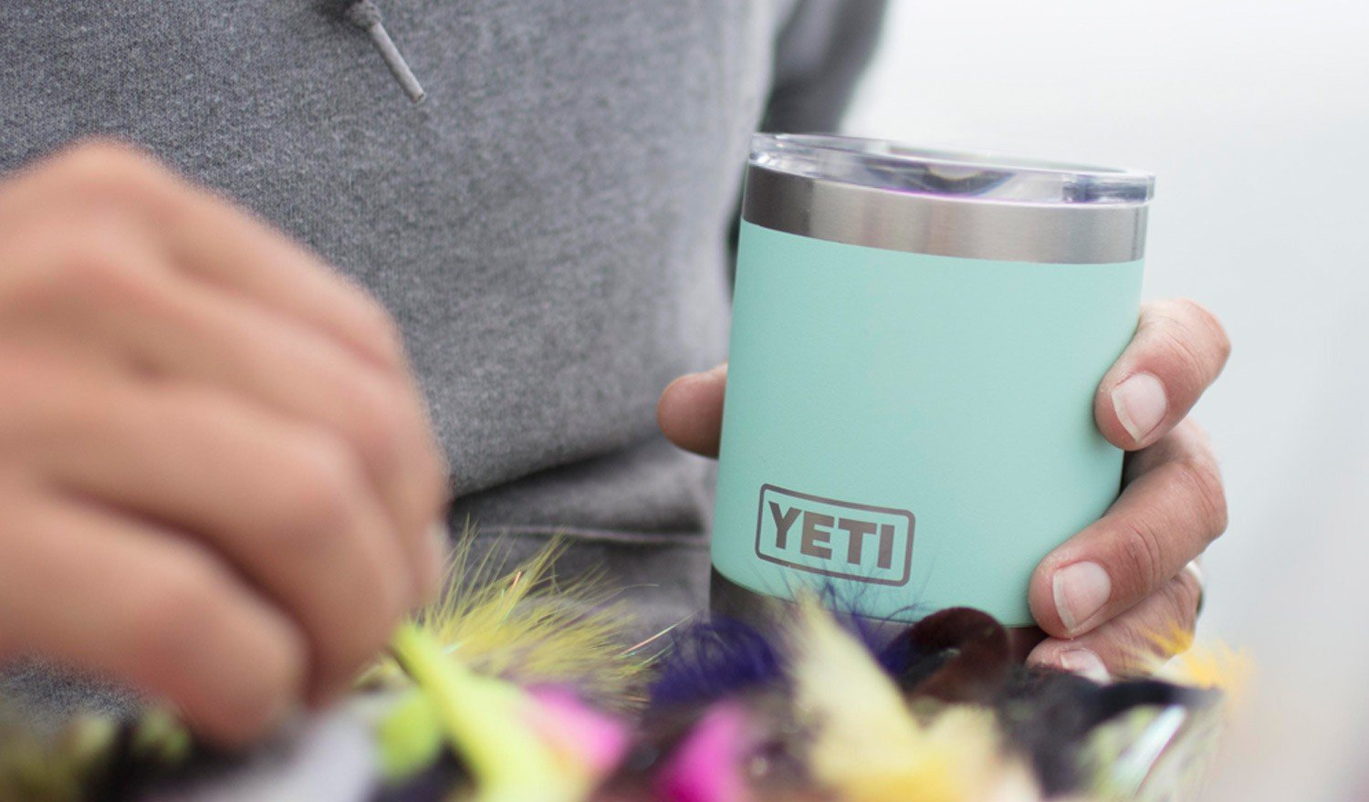 YETI Rambler 10oz Vacuum Insulated Stainless Steel Lowball with Lid, Seafoam DuraCoat by YETI (Image #5)