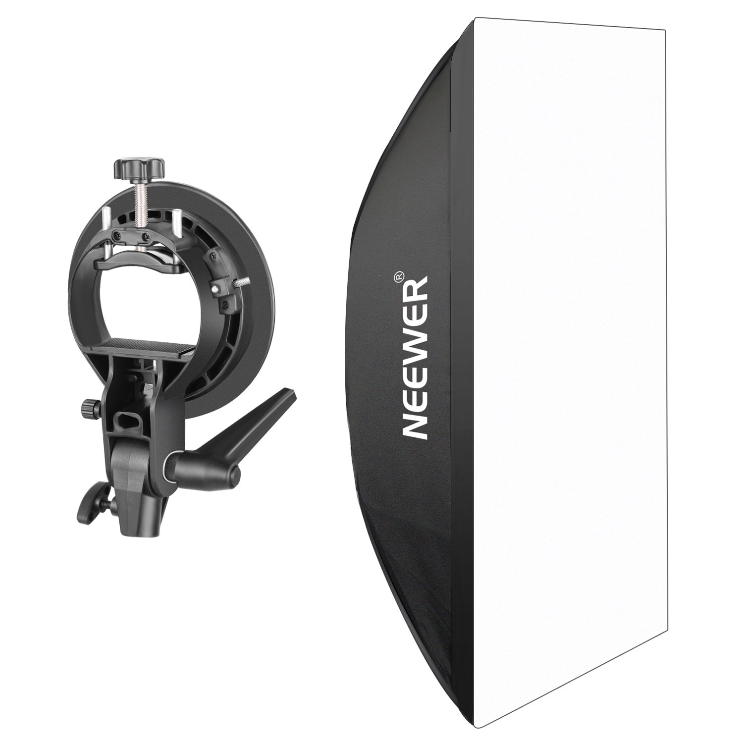 Neewer Portable 24 x 36 inches/60 x 90 centimeters Rectangular Softbox with Bowens Mount and S-Type Bracket Holder Kit for Speedlite Studio Flash Monolight,Portrait and Product Photography by Neewer