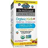 Garden of Life Probiotics, Dr. Formulated Organic Probiotics for Kids, 5 Billion CFU, Strawberry Banana 30 Count