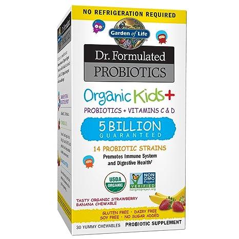 Garden of Life - Organic Kids + Dr. Probióticos Formulados con Vitaminas C & D