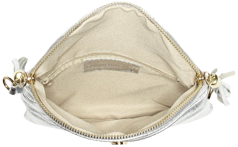 Bags4LessDubai - Sacchetto Donna, Argento (Argento (argento)), 4x19x22 cm  (B x H x T): Amazon.it: Scarpe e borse